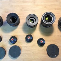 PL 5 lenses set in imperial : 25,35,50,85,100mm