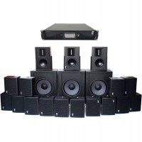 sub woofers, surround speakers and amp controller