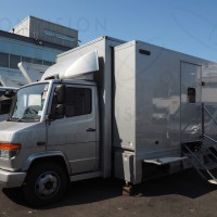 Single Expanding 7.6m Rack Ready Outside Broadcast Vehicle UK Right hand drive
