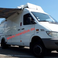 4x4 Mercedes Sprinter redundant KU band SNG satellite uplink truck.