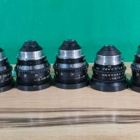 Set of EIGHT Super 16 PL mount lenses (7 primes and 1 zoom)