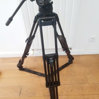 tripod head + carbon fiber legs with floor -spreader + 1 pan-handle