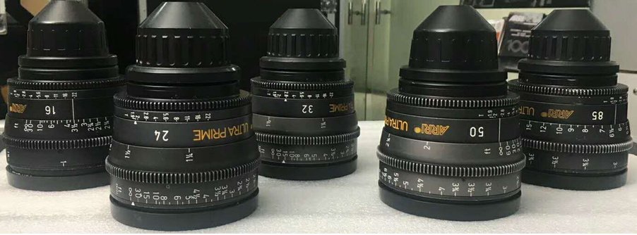 ARRI Ultra Prime lens set of 5 16mm  24mm  32mm  50mm  85mm - Image #1