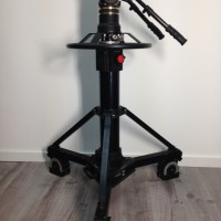 Gamma fluid head + pneumatic pedestal P50 + wheels