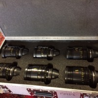 Set of lenses with 18mm 25mm 32mm 50mm 75mm and 100mm