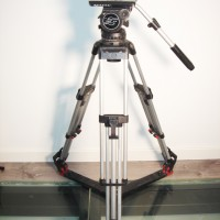 Silver / alu tripod legs + ground-spreader + 1 pan-arm bar - 3 months warranty