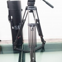 Carbon fiber tripod + fluid head 18S1 + transport tube