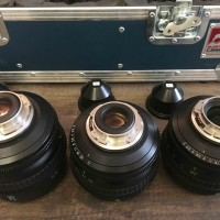 set of 3 lenses : SONY SCL-P35T20 + SCL-P50T20 + SCL-P85T20 + Adapter PL Mount-NEX