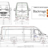 6-CAMERA BLACKMAGIC OB VAN - OB VAN RACK READY