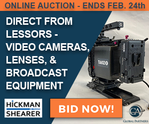 Online auction of video cameras, lenses and broadcast equipment