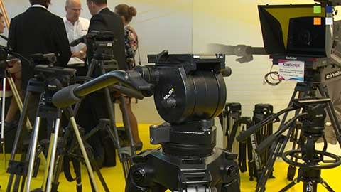 Air Alloy Tripod System from Miller Fluid Heads at IBC 2014