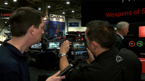 Atomos Samurai Blade demonstration at NAB 2013