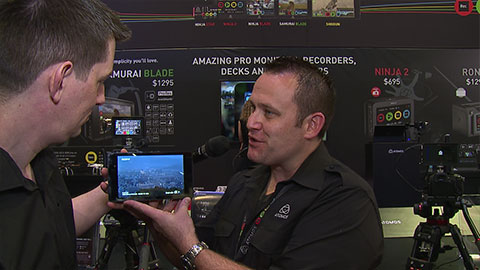 Atomos Shogun and Ninja Star at NAB 2014
