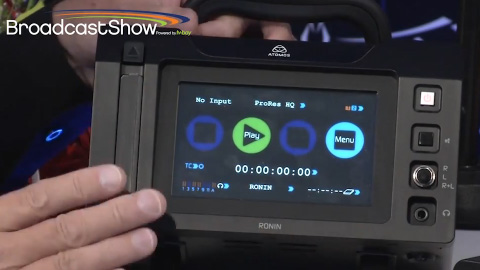 Atomos with the Ronin on BroadcastShow LIVE at IBC 2013