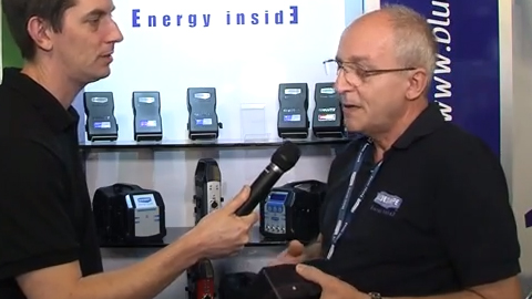 Blueshape Batteries at IBC 2013