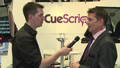 CueScript Prompters at NAB 2014