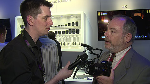 Sony Alpha7S at NAB 2014