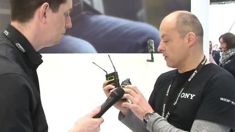 Sony Wireless Microphones at BVE 2014