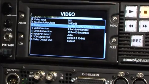 Sound Devices PIX260i Recorder at IBC 2013