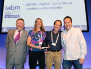 AATON DIGITALS CANTARX3 LOCATION AUDIO RECORDER WINS IABM DESIGN AND INNOVATION AWARD AT IBC 2015