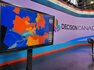 Bannister Lake Delivers Cross-Platform and Innovative Graphic Solutions for Canadian Federal Election Coverage