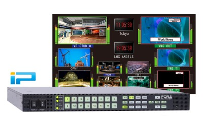 New FOR-A MV-1640IP Multi-Viewer Brings Baseband Functionality to IP-Based Workflows