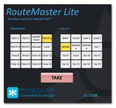 RASCULAR EMBRACES NEWTEK and rsquo;S NDI IP PROTOCOL WITH NEW ROUTEMASTER LITE