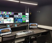 Custom Consoles Module-R Desks and MediaWall Monitor Display Mounts Selected for Cardiff University School of Journalism, Media and amp; Cultural Studies