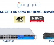 Digigrams Compact AQORD *HEVC-DEC Decoders Reduce Cost of 4K UHD and Multiple-HD-Stream Video Contribution