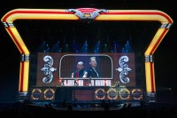 Luc Peumans Creates Slick Production Design for Grease arena Show