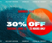Maxon, Red Giant and Redshift Announce Blowout Summer Sale on 3D, VFX and Motion Graphics Tools