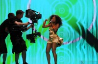 Norman Bever close to the action  Eurovision Song Contest with artemis Cine HD