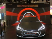 Ross Ashton Maps Tesla Car for Panasonic at ISE