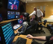 STUDENTS AT SOUTHEAST MISSOURI STATE UNIVERSITY TV and amp; FILM DEPARTMENT CLEARLY MONITOR ITS PROGRAMMING WITH MARSHALL