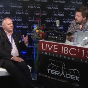 Den Lennie talks to Nigel Wilkes from Panasonic and Duncan Payne from WTS live at IBC 2013